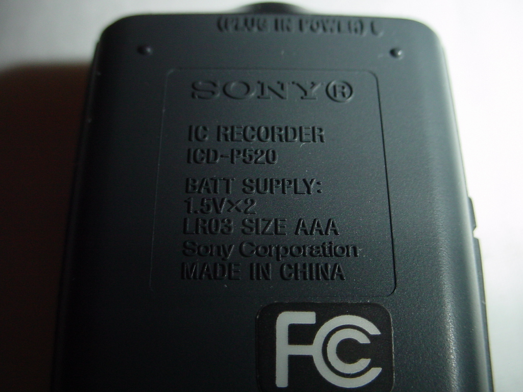 ... Sony IC Recorder ICD-P520 View 2 ...
